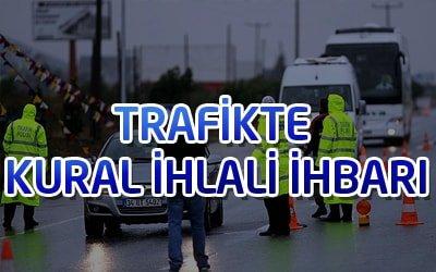 Trafik İhlali Telefon ve Whatsapp İhbar Hattı Numaraları