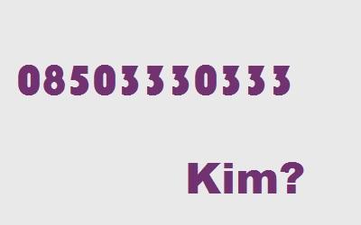 08503330333