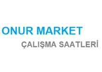 Onur Market Açılış Kapanış Saati Çalışma Saatleri